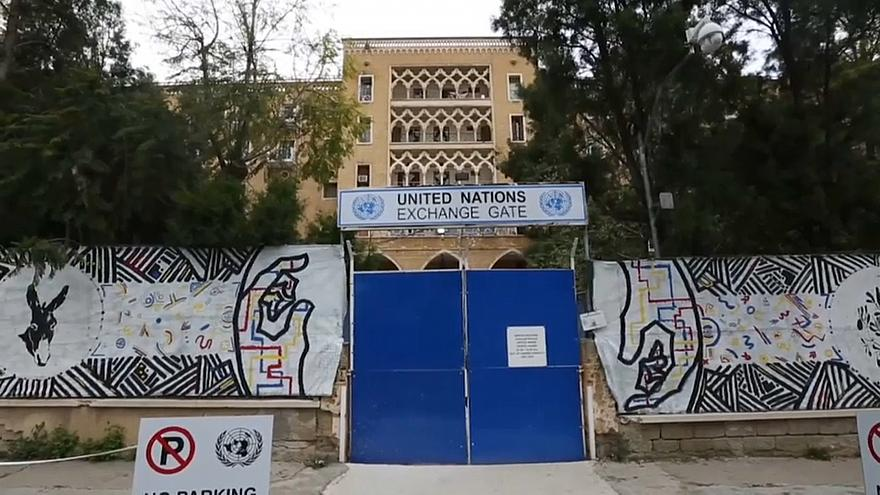 """UN soldiers vacate Cypriot former playground of the rich and famous"" -Euronews on Ledra Palace 3"