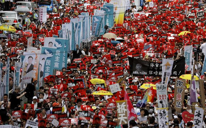 Hong Kong protesters demonstrate against extradition bill 12