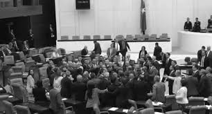 Turkish parliamentary session breaks following scuffle over presidential system 3