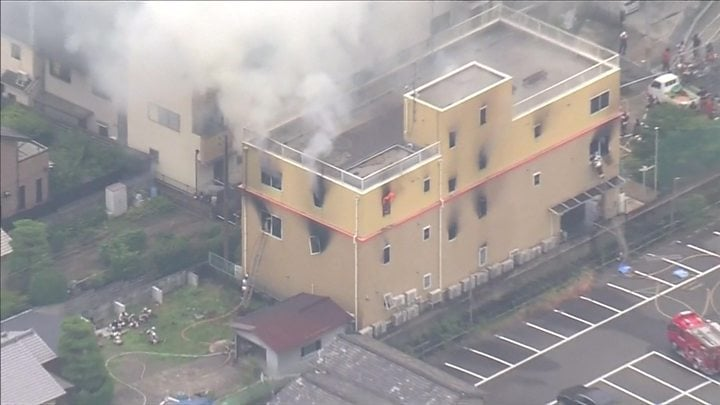 Kyoto Animation fire: At least 23 dead after suspected arson attack 1