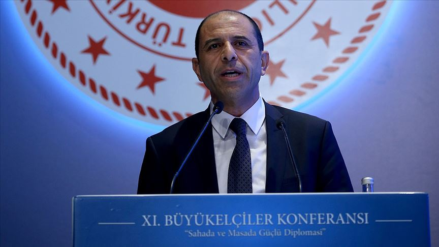 """Özersay: """"Conditions of federal partnership do not exist in Cyprus"""" 1"""