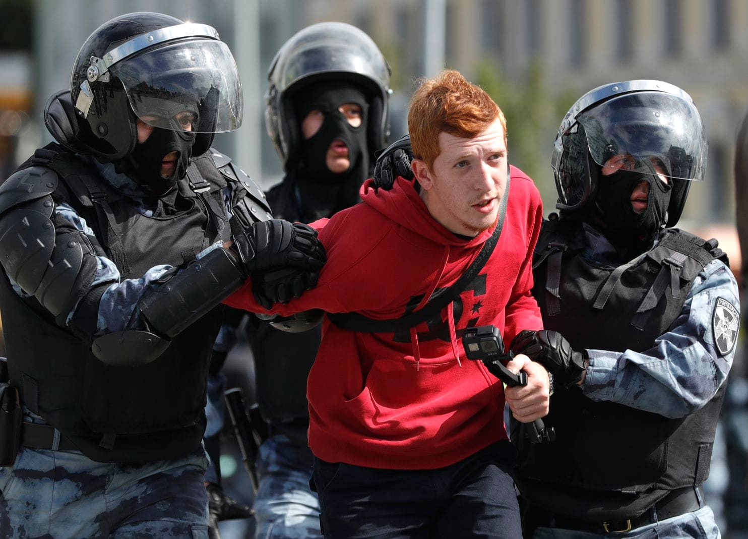 Russia protests: Hundreds detained during unauthorised demonstration 16