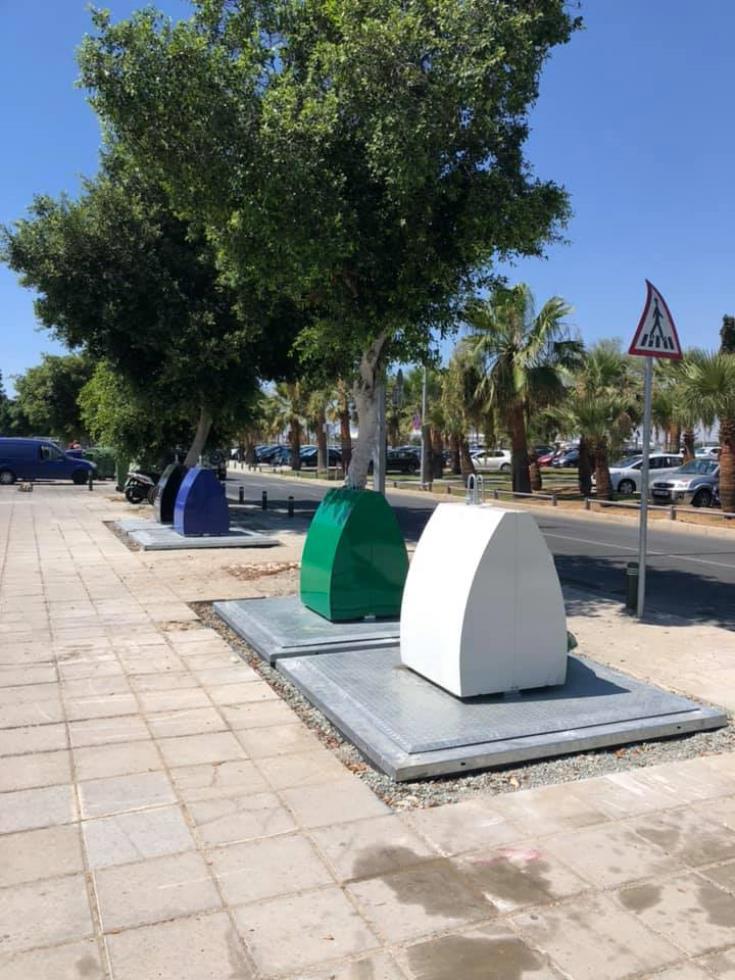 Installation of submerged bins begins along Mackenzie in Larnaca, Piale Pasha to follow 13