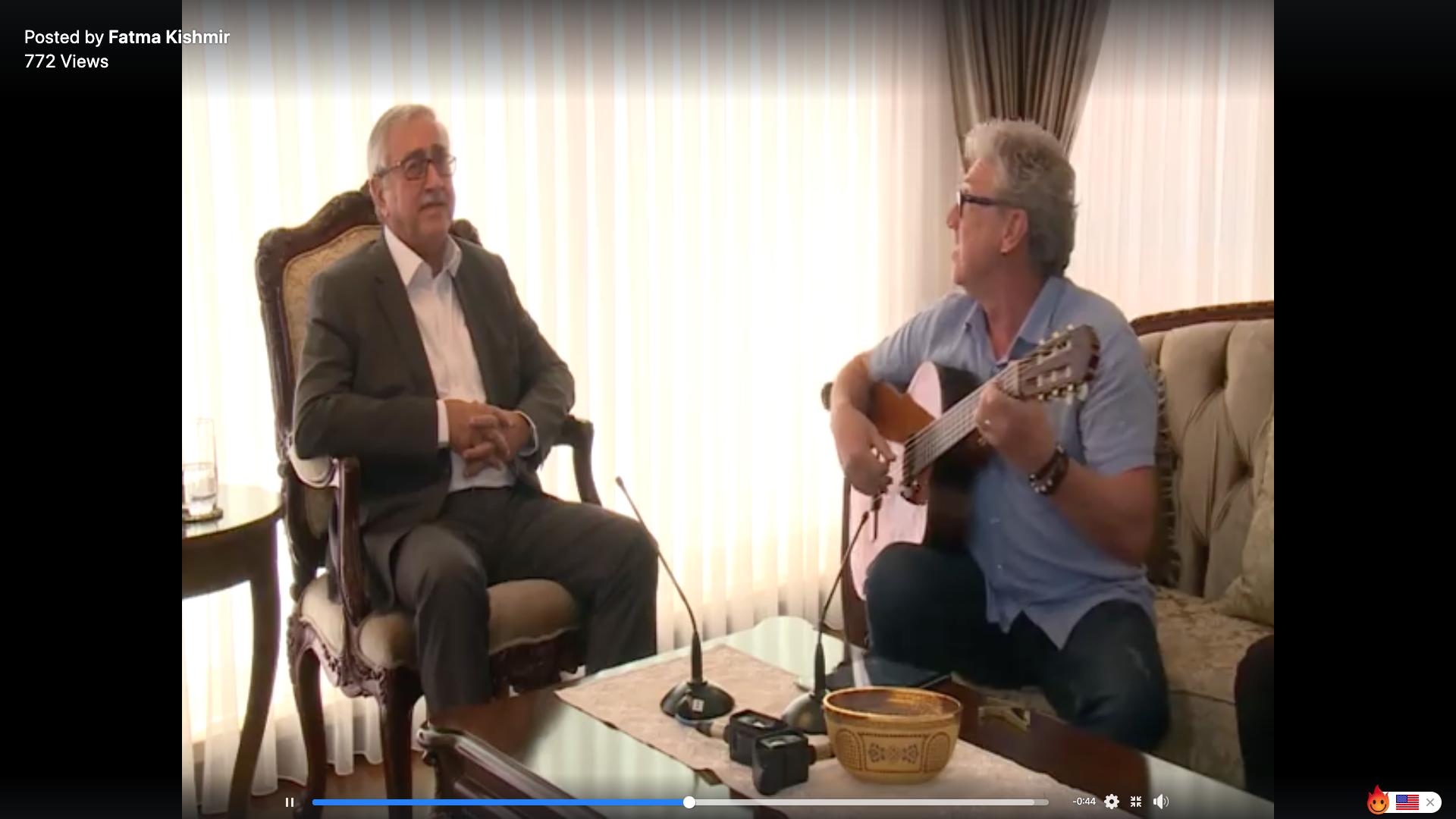 President Akinci sings Mağusa Limanı 6