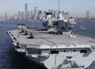 aircraft carrier HMS Queen Elizabeth