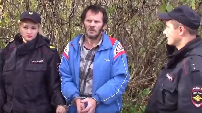 Russian 'cannibal' charged after human and animal remains found 1