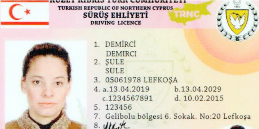 New driving licences for the TRNC 1