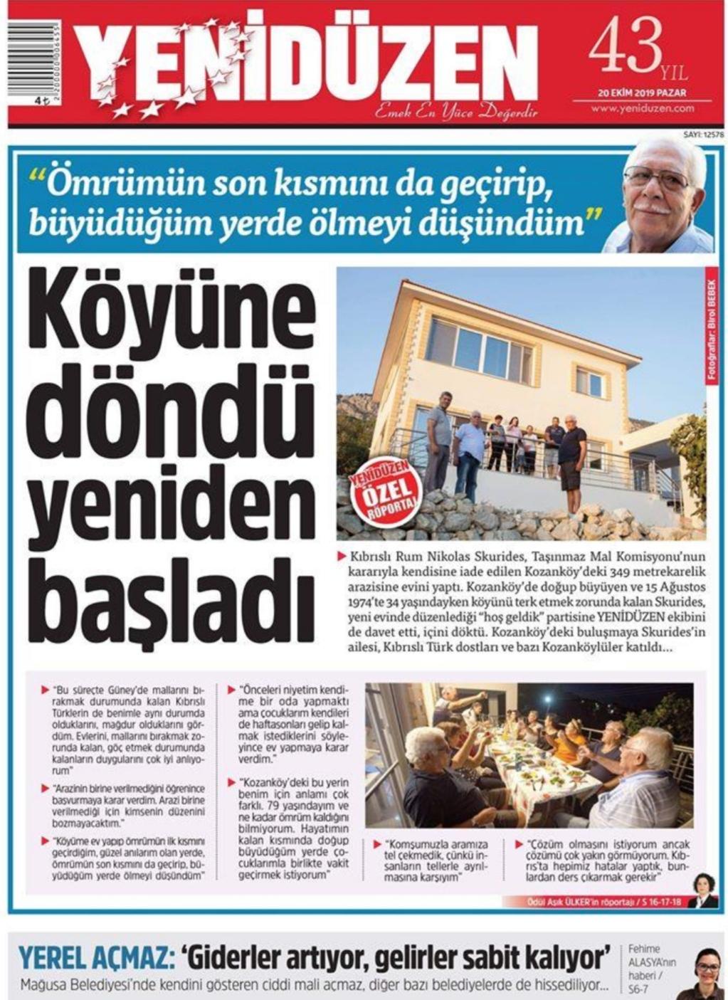 Mr. Skouridis returns home in North Cyprus 1