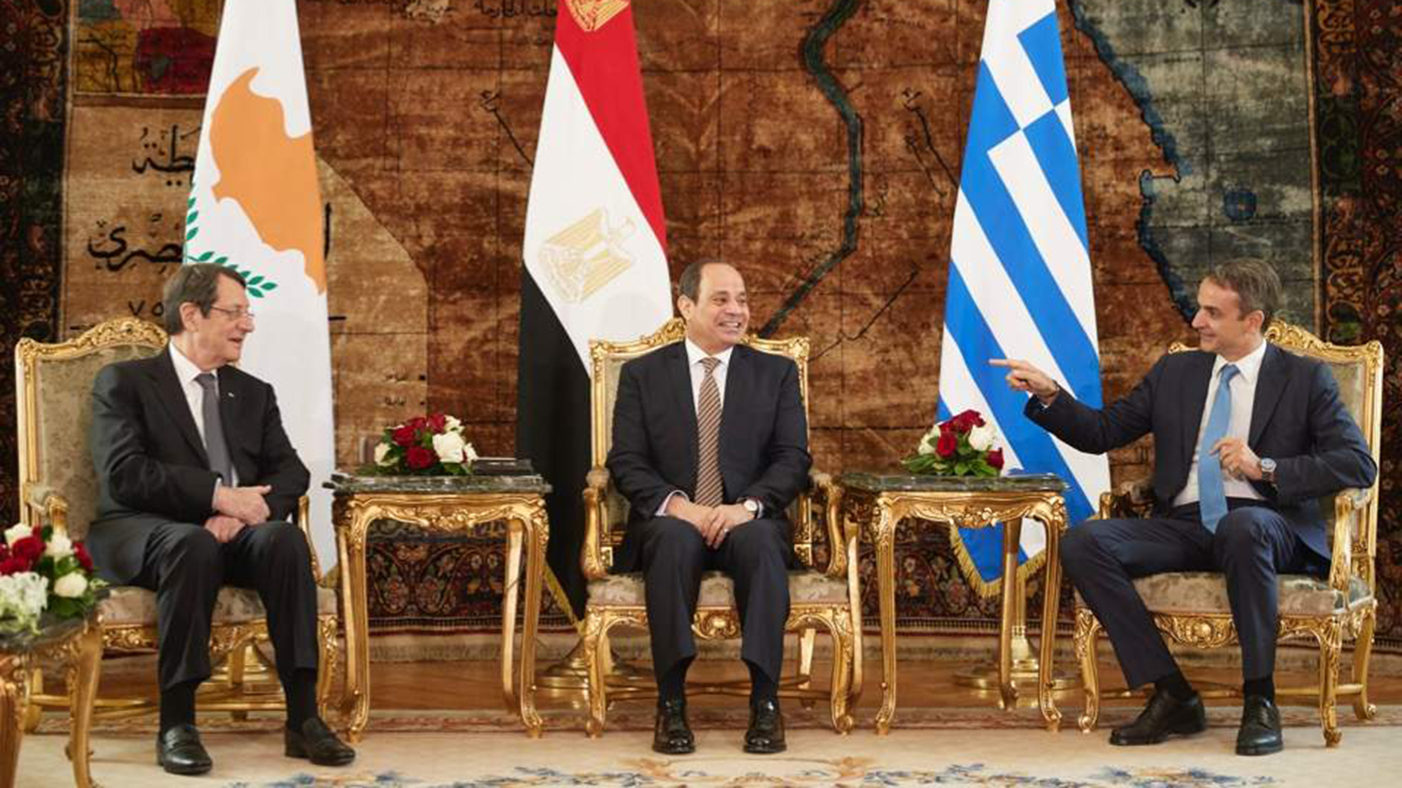 What's behind Egypt meeting with Greece, Cyprus at this time? 1