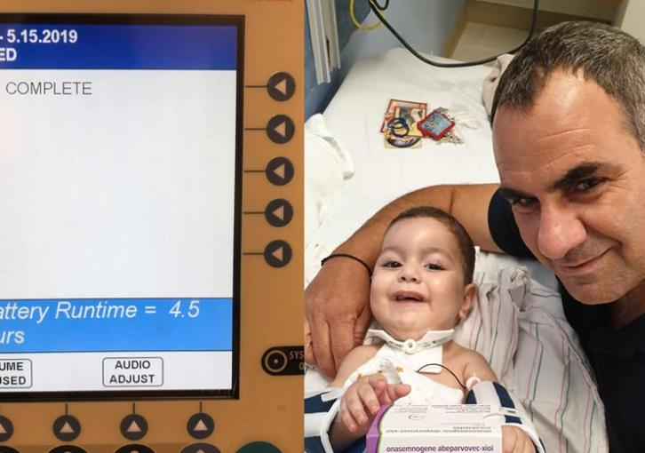 Small Antonis undergoes gene therapy treatment, sends love from Boston 1