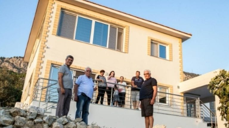 Greek Cypriot rebuilds home in his native village in the North Cyprus decades after exodus 1