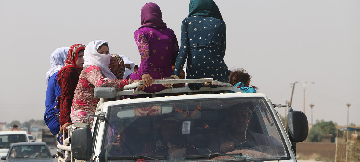 Amid ongoing fighting in northeast Syria, hundreds cross Iraqi border in search of safety 19