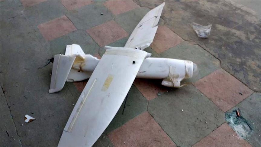 YPG/PKK's drone downed in northern Syria 1
