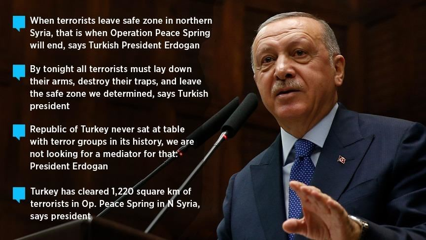 Erdogan: 'When terrorists withdraw, operation ends' 1