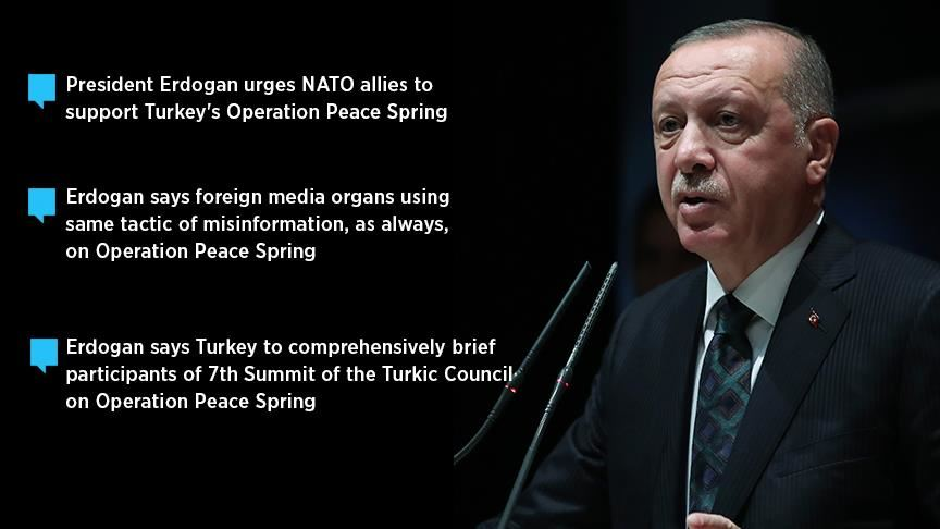 Erdogan blasts global smear campaign on Turkey's op 10
