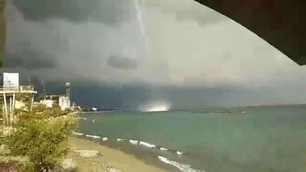 Limassol waterspout captured on video 1