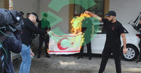 ELAM Students Burn the TRNC Flag in Protest 1