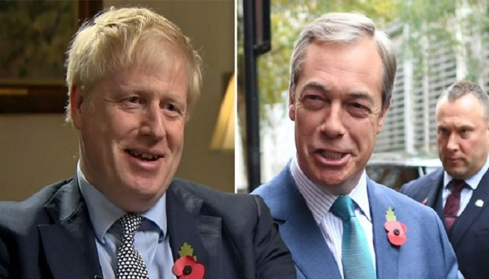 General election 2019: Boris Johnson rejects pact with Nigel Farage 1