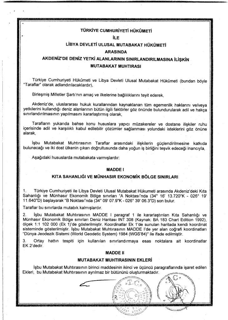 Full text of Turkey-Libya maritime agreement revealed 14