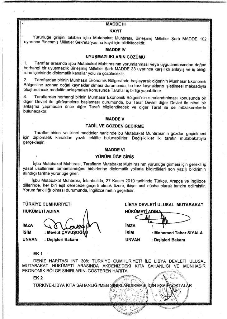 Full text of Turkey-Libya maritime agreement revealed 13