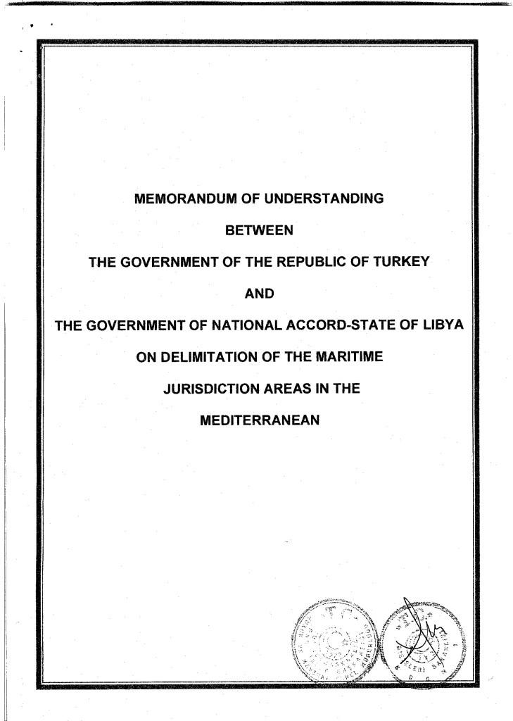 Full text of Turkey-Libya maritime agreement revealed 2