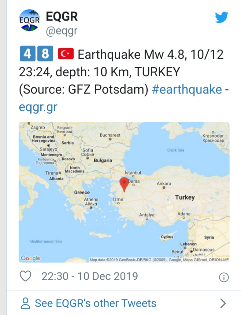 Earthquake hits Turkey. No injuries reported 1