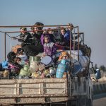 refugee influx heading to Turkey from Idlib