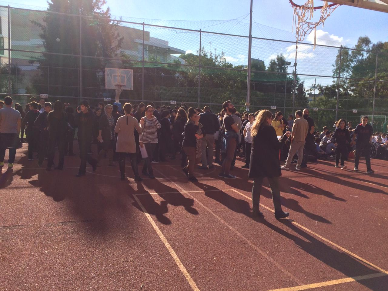 Bomb scare at American academy school in Nicosia, Cyprus. School evacuated 23