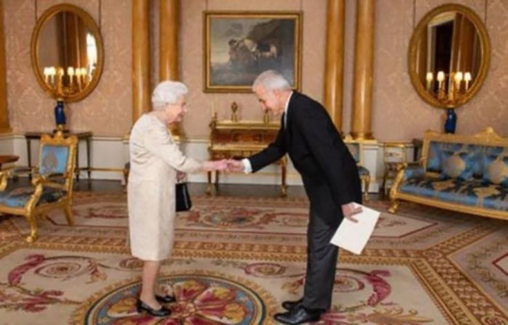 Greek Cypriots new High Commissioner presents credentials to Queen Elizabeth 14