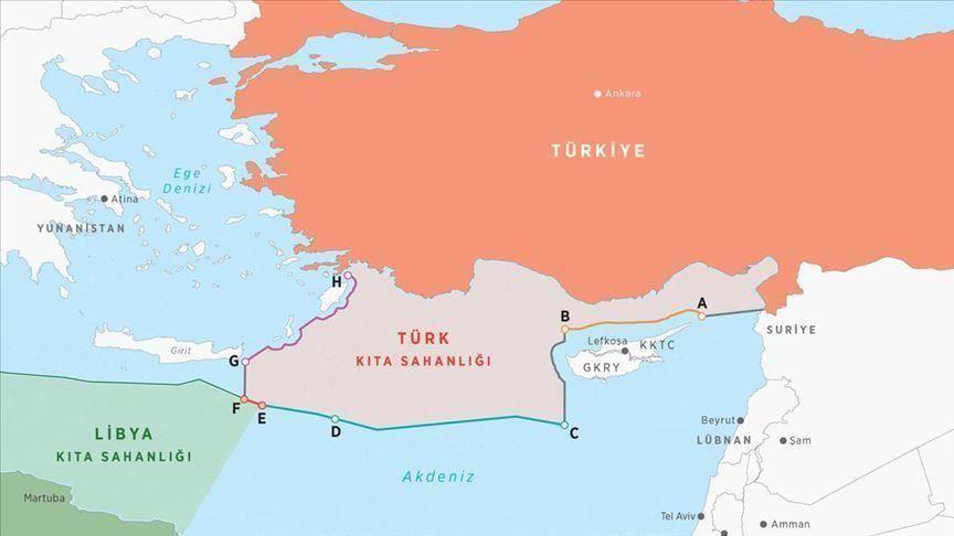 Map - Turkey - Libya MoU