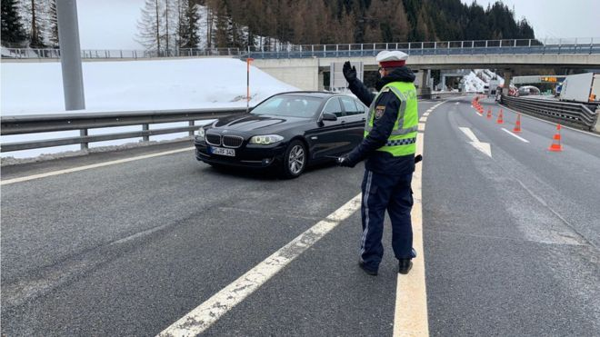 Checks began on Tuesday at the Brenner Pass between Italy and Austria