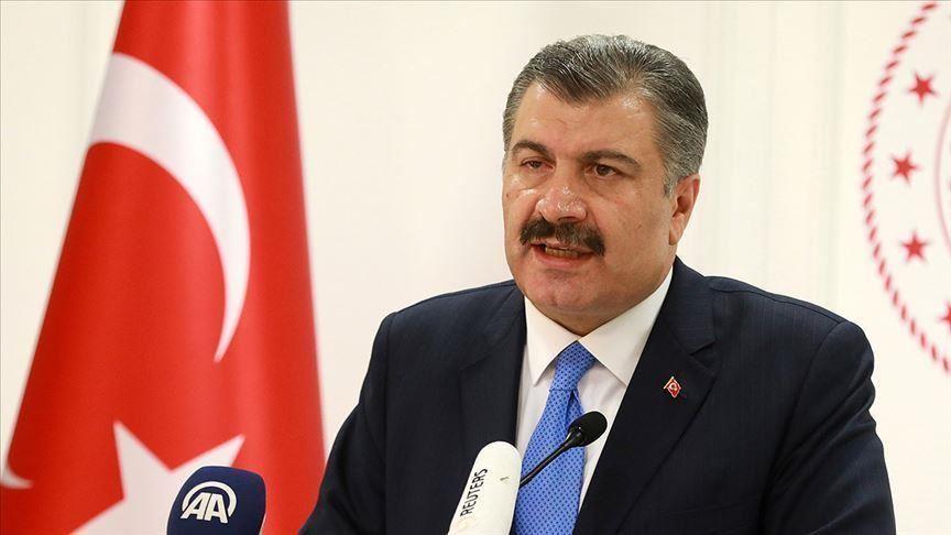 Turkey's health minister Fahrettin Koca