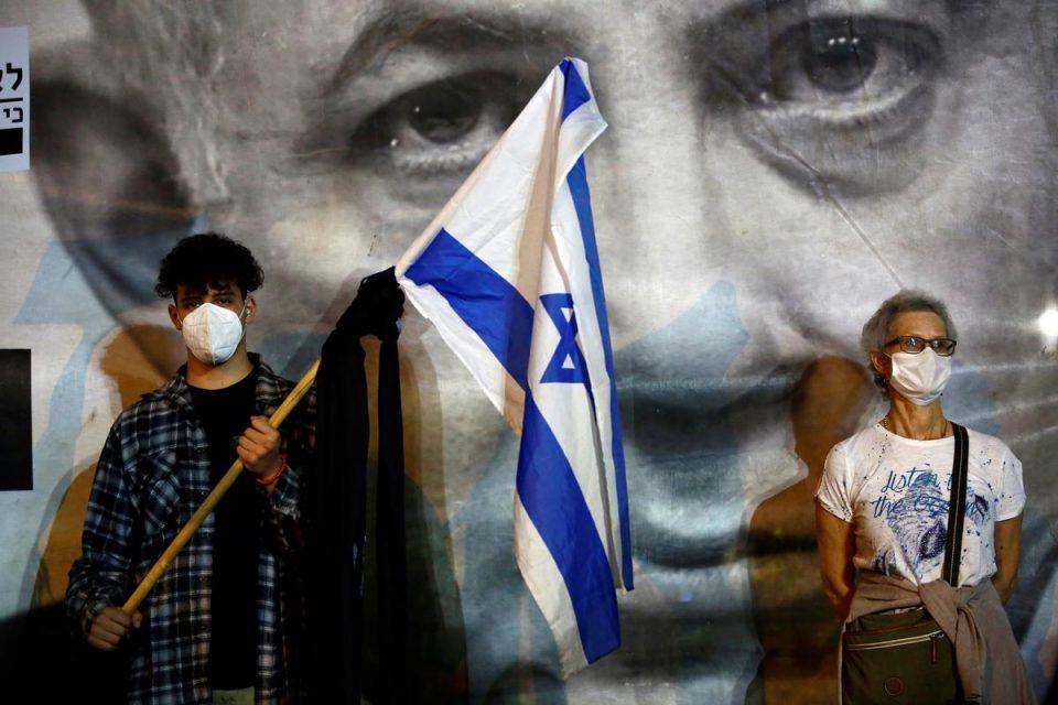 Anti-Netanyahu rally draws thousands under coronavirus curbs