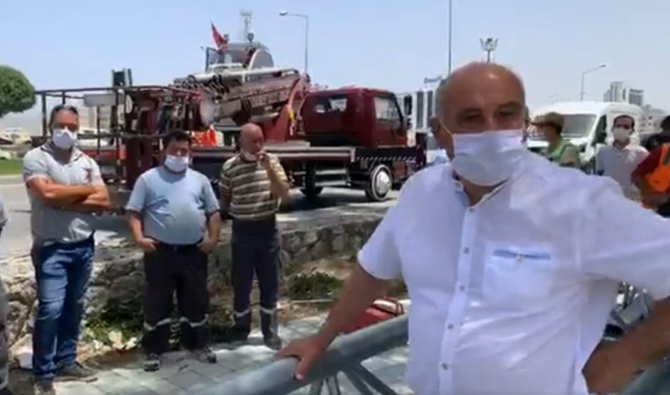 Gönyeli Mayor stops Security camera deployment (Video) 15