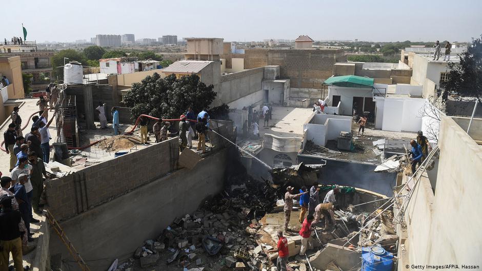 Pakistan International Airlines passenger plane crashes in Karachi 17