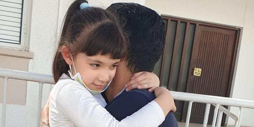 First hug after 67 days 15