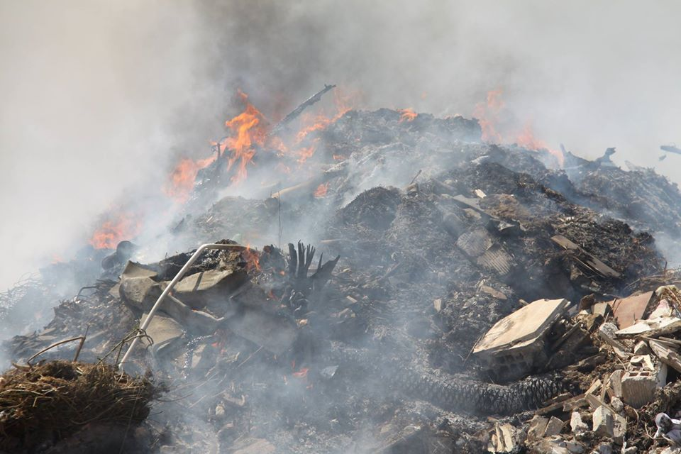 Iskele Dump on fire and moving fast (Photo Video) 28