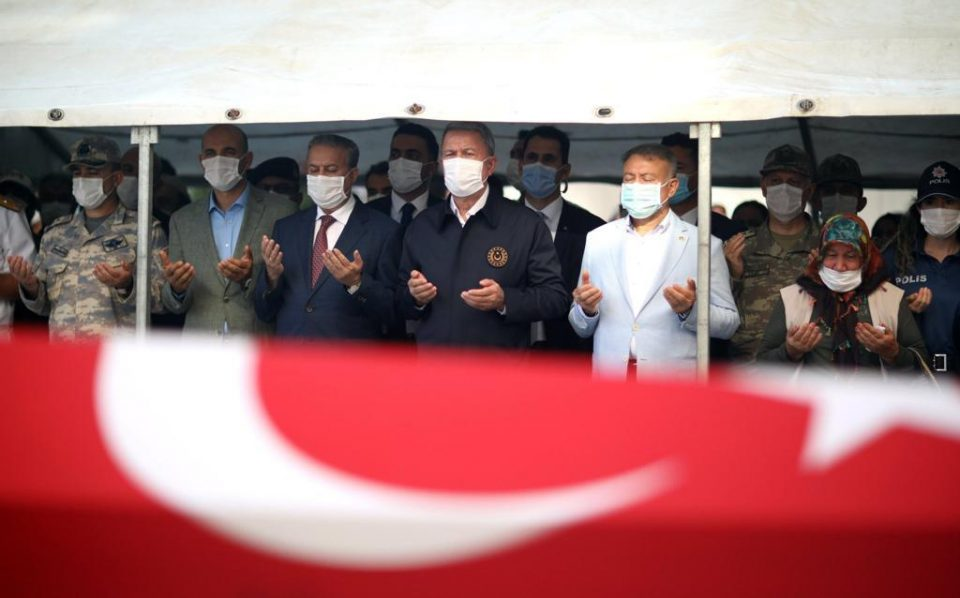 Funeral Ceremony was Held for 4 Soldiers Who died in the Bus Accident 13