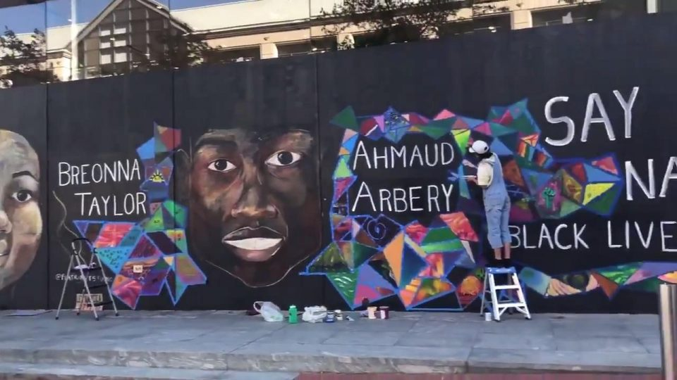 Artists Create Graffiti On Walls To Mourn Black Lives' Loss Amidst Anti- Racism Protets