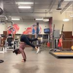 Athlete Performs Amazing Hand Stand Flow