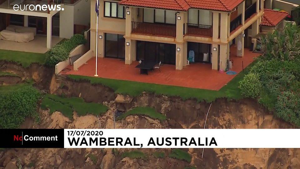 Beach erosion in Australia leaves residents on edge