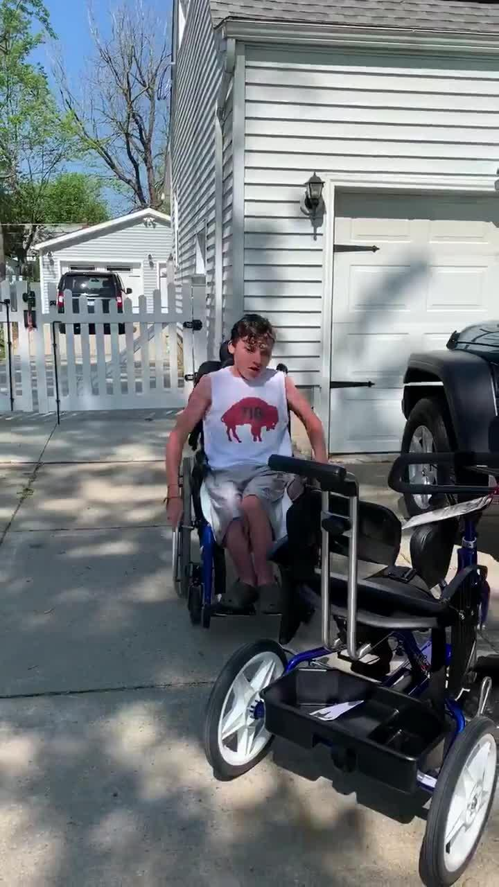 Boy in Wheelchair Gets Adaptive Bike as Surprise Gift