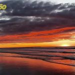 Check Out This Beautiful Red-Skied Maine Sunrise That Looks Like a Painting Come to Life!