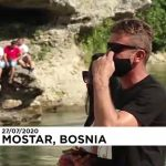 Extreme bridge diving goes ahead in Bosnia despite COVID-19 pandemic