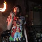 Flow Artist Shows Fire Eating Tricks With Two Lit Torches