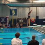 Girl Attempts Backflip During Competition And Falls Face First Into Pool