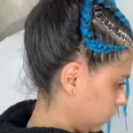 Girl Gets her Styled With Blue Hair Extensions and Rings