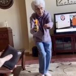 Grandma Mock Robs Grandson Threatening Him With Nerf Gun