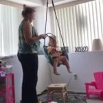 Grandma Saves Little Girl From Falling Off Of Swing