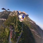Group of Guys Go Wingsuit BASE Jumping Off of Cliff